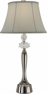 Dale Tiffany GT13278 Gretchen Polished Nickel Side Table Lamp