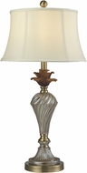 Dale Tiffany GT14264 Crystal Gold Antique Brass Table Top Lamp