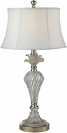 Dale Tiffany GT14265 Snowflake Polished Nickel Side Table Lamp