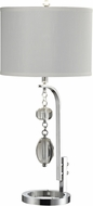 Dale Tiffany GT14320 Ashland Polished Chrome Table Lamp Lighting