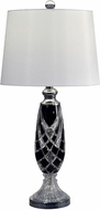 Dale Tiffany GT17082 Black Shield Polished Chrome Table Top Lamp