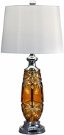 Dale Tiffany GT17084 Glossy Amber Polished Chrome Table Lamp