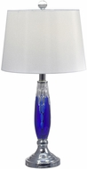 Dale Tiffany GT17089 Blue Glacier Polished Chrome Table Lamp Lighting