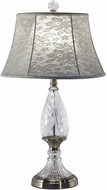 Dale Tiffany GT17131 Wavy Leaf Brushed Nickel Table Top Lamp