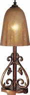 Dale Tiffany PT100529 Coralie Antique Pewter / Gold Table Light
