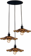Dale Tiffany SAH15105 Burnt Sienna Modern Copper Bronze LED Multi Drop Ceiling Light Fixture