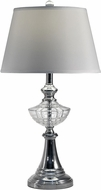 Dale Tiffany SGT17034 Avery Polished Chrome Table Lamp Lighting