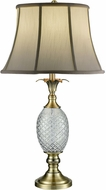 Dale Tiffany SGT17041 Brass Pineapple Antique Brass Table Top Lamp
