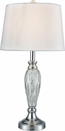Dale Tiffany SGT17066 Vella Polished Chrome Side Table Lamp