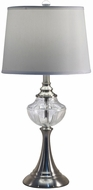 Dale Tiffany SGT17073 Harper Brushed Nickel Table Lamp
