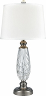 Dale Tiffany SGT17161 Clearview Antique Nickel Table Lamp Lighting