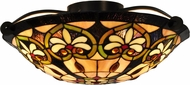 Dale Tiffany STH15009 Mccartney Tiffany Tiffany Bronze Ceiling Lighting