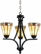 Dale Tiffany STH15083LED Sundance Tiffany Tiffany Bronze LED Mini Lighting Chandelier