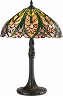 Dale Tiffany STT13017 Cactus Bloom Tiffany Antique Bronze Table Lamp
