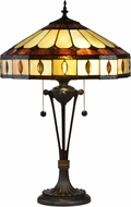 Dale Tiffany STT16114 Julio Tiffany Antique Bronze Table Lamp