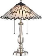 Dale Tiffany STT17022 Jensen Tiffany Brushed Nickel Table Lighting