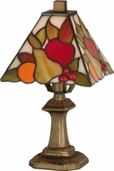 Dale Tiffany TA100122 Fruit Tiffany Antique Brass Table Lamp