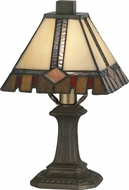 Dale Tiffany TA100351 Castle Cut Tiffany Antique Bronze Table Light