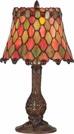 Dale Tiffany TA101340 Manti Tiffany Antique Brass Table Lighting