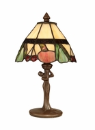 Dale Tiffany TA10605 Fruit Tiffany Antique Bronze Side Table Lamp