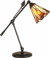 Dale Tiffany TA11158 Leaf Tiffany Dark Bronze Study Lamp