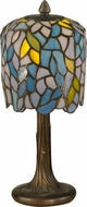 Dale Tiffany TA11200 Wisteria Tiffany Antique Bronze Table Top Lamp