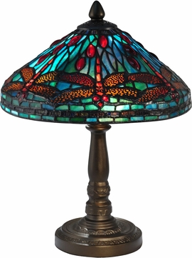 Dale Tiffany TA14352 Allegheny Tiffany Antique Bronze Accent Lamp