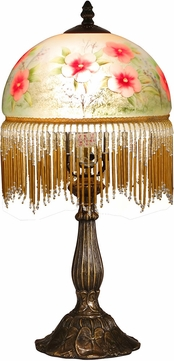 Dale Tiffany TA15002 Pansy Antique Brass Accent Lighting