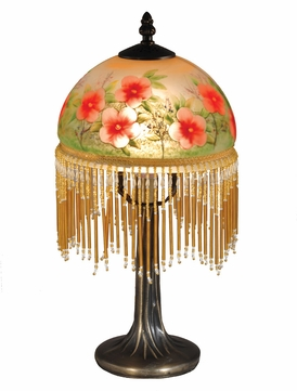Dale Tiffany TA15003 Pansy Antique Brass Accent Light Fixture