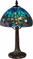 Dale Tiffany TA15048 Dragonfly Tiffany Antique Brass Accent Lamp