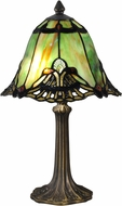Dale Tiffany TA15057 Green Haiawa Tiffany Antique Brass Accent Light