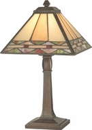 Dale Tiffany TA70678 Slayter Tiffany Antique Bronze Table Top Lamp