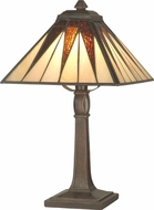 Dale Tiffany TA70680 Cooper Tiffany Antique Bronze Side Table Lamp