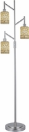 Dale Tiffany TF15019 Palasides Tiffany Satin Nickel Floor Lamp Lighting