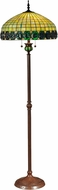 Dale Tiffany TF15115 Turtleback Tiffany Antique Bronze Lighting Floor Lamp