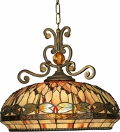 Dale Tiffany TH10097 Briar Dragonfly Tiffany Antique Golden Sand Pendant Light