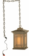 Dale Tiffany TH10890 Mission Antique Brass Mini Hanging Light