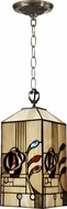 Dale Tiffany TH11006 Rose Tiffany Antique Brass Mini Pendant Lighting Fixture