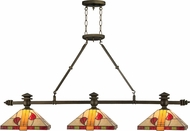 Dale Tiffany TH12065 Carnaby Tiffany Antique Brass Island Light Fixture