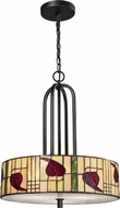 Dale Tiffany TH12323 Macintosh Tiffany Dark Bronze Drum Hanging Lamp