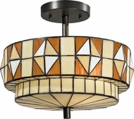 Dale Tiffany TH12397 Westcott Tiffany Dark Bronze Ceiling Light Fixture