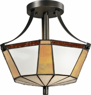 Dale Tiffany TH12405 Visalia Tiffany Dark Bronze Ceiling Lighting Fixture