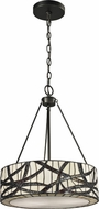 Dale Tiffany TH12418 Willow Cottage Tiffany Dark Bronze Drum Drop Ceiling Lighting