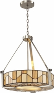 Dale Tiffany TH12420 Sandfield Tiffany Satin Nickel Drum Ceiling Light Pendant