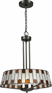 Dale Tiffany TH12421 Wedgewood Tiffany Dark Bronze Drum Ceiling Pendant Light