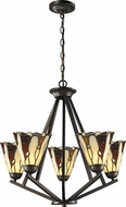 Dale Tiffany TH12434 Ripley Tiffany Copper Bronze Mini Lighting Chandelier