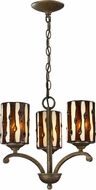 Dale Tiffany TH12440 Diamond Hill Tiffany Antique Golden Bronze Mini Chandelier Lamp