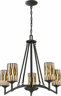 Dale Tiffany TH12452 Candella Tiffany Textured Bronze Chandelier Light