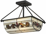 Dale Tiffany TH12461 Cupertino Tiffany Matte Coffee Black Flush Ceiling Light Fixture