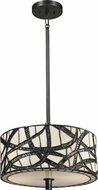 Dale Tiffany TH13013 Willow Cottage Tiffany Dark Bronze Drum Lighting Pendant
